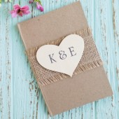 Rustic Wedding Guest Book - Personalized, Country Chic Wedding Book
