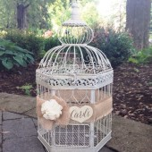 Wedding Birdcage, Rustic Wedding Card Box, Birdcage Card Holder, XL Bird Cage