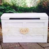 Wedding Card Box, Rustic Wedding, Chest Card Holder