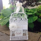 Country Glam Wedding, Birdcage Card Holder, Large Wedding Bird Cage, Elegant Bird Cage