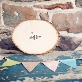 Wood Slice Guest Book
