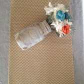 Gold metallic mini chevron table runners