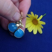 Sky blue earrings, bridesmaids jewelry