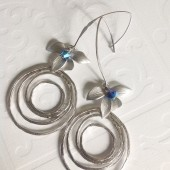 silver hoop earrings, bridesmaids earrings