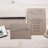 the portland // rustic kraft calligraphy wedding invitation