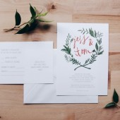 boho wreath wedding invitation // the seattle