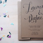 the san diego // rustic bohemian kraft wedding invitation