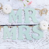 Wedding Chair Signs, Mr. and Mrs., Hanging Signs, Rustic Country Barn Decor