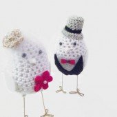 Birds wedding cake topper