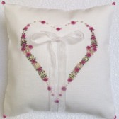Hand Embroidered Ring Pillow