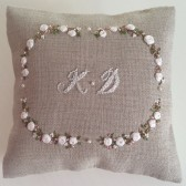 Silk Ribbon Embroidery Lavender filled Gift