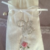Silk Embroidered Favor Bag