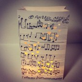 Custom music luminaries made using your handwritten music