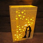 Book lovers luminary, book theme wedding