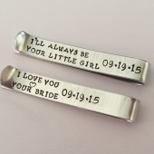 Secret message tie clip