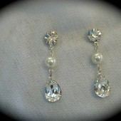 Pearl Crystal Earrings, Swarovski