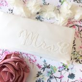 Personalized mrs clutch purse