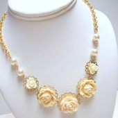 Ivory Gables Flower Necklace