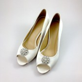 Ivory Wedding Shoes with Rhinestones