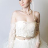 Lace Bridal Jacket with Ribbon Detail