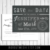 Chalkboard Typography Save the Date