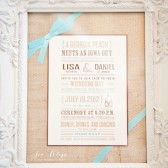 Wedding Invitation: Rustic and Vintage Mason Jar