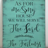 As for Me and My house Family Sign