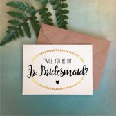 jr. bridesmaid, bridesmaid proposal, card, proposal card, gold, maid of honor, matron of honor, flower girl, junior bridesmaid, gold card