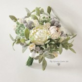 succulent bouquet, boho bouquet, green bouquet, keepsake bouquet, alternative bouquet, peony bouquet, green ivory bouquet, clay flowers bouquet