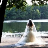 Teardrop shape Cathedral Veil 72 wide tapered to 108 inch wide at bottom by 108 inch long Bridal Illusion Tulle Wedding Veil