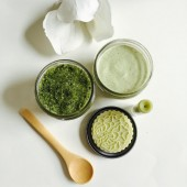Matcha Green Tea Jasmine Gift Set ,Body butter ,Sugar Scrub, Solid Lotion Bar, Lip balm Bridesmaid gifts Preorder