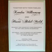 Elegant Wedding Invitation with Panel Pocket