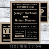 Rustic Kraft wedding invitations, rustic wedding suite