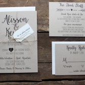 Rustic and Simple Wedding Invitations