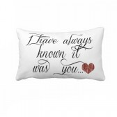 Romantic Quote on pillow