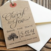 kraft save the date tag