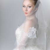 Scattered Lace Cathedral Length Bridal Veil