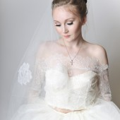 Off Shoulder Lace Bridal Jacket