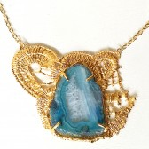 lace,necklace,necklaces,bridal,unique,jewelry,jewellery,gold,blue,gemstone