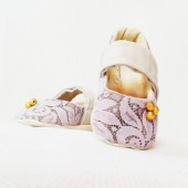 lace, flower girl shoes