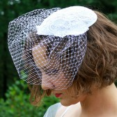 Alencon Lace Bridal Hat