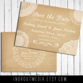 Lace and Vintage Save the Date