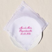 Personalized Bridal Lace Handkerchief