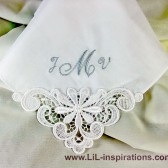 Monogrammed Handkerchief for Wedding