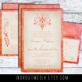 Exotic Rustic Wedding Invitations - The Laila