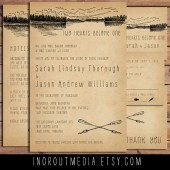 Rustic Lake Invitation Suite