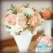 Wedding Centerpiece Flowers, Small Bright, Wedding Reception, Wedding Decor, Sola Flowers, DIY Wedding, Shabby Chic Wedding, Rustic Wedding