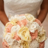 spring wedding bouquet, bridal bouquet, peach and yellow flowers, rustic wedding