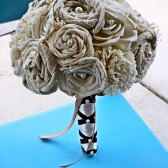 Custom Wedding Bouquet -Ivory Eco Friendly Bridal Bouquet, Keepsake Bouquet, Shabby Chic Wedding