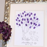 Last Unicorn Fairytale Thumbprint Tree Guestbook